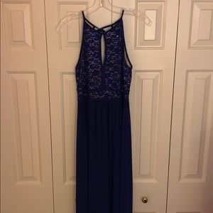 Royal Blue Sparkly Party Dress